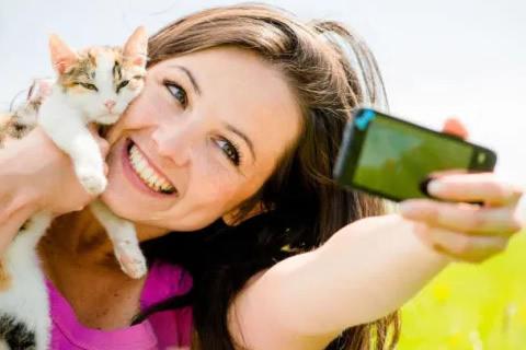 selfie con gato